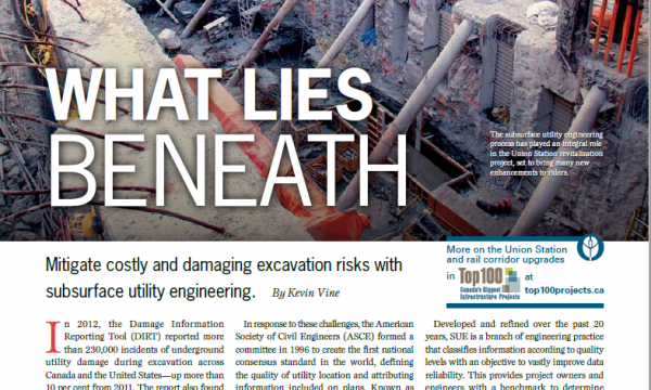 Subsurface Utility Engineering – ReNew Canada Magazine