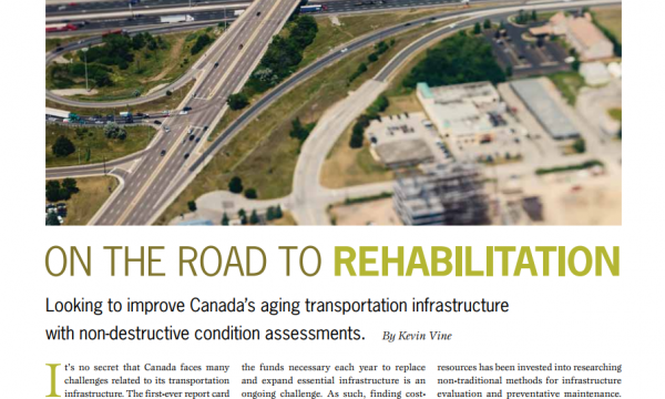 On the road to rehabilitation, Renew Canada Magazine, July 2014