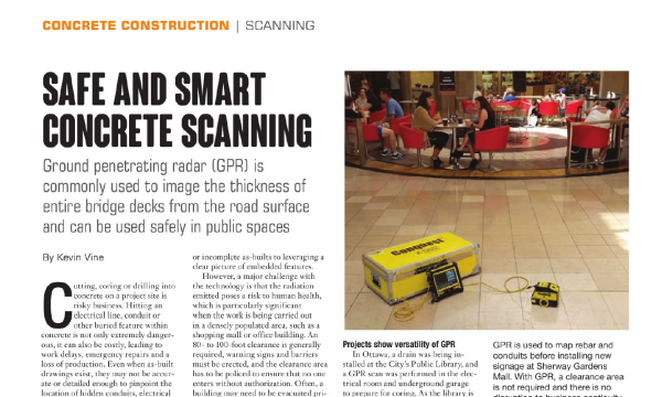 Safe and Smart Concrete Scanning, Heavy Equipment User Guide