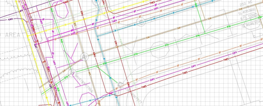 Subsurface Utility Engineering CADD map