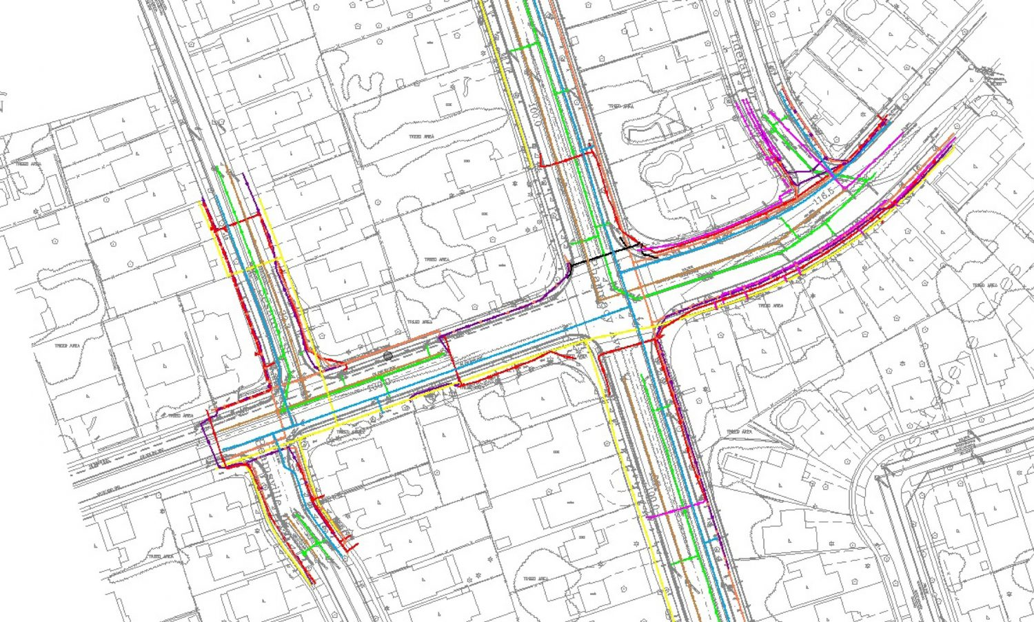 Subsurface Utility Engineering CAD map