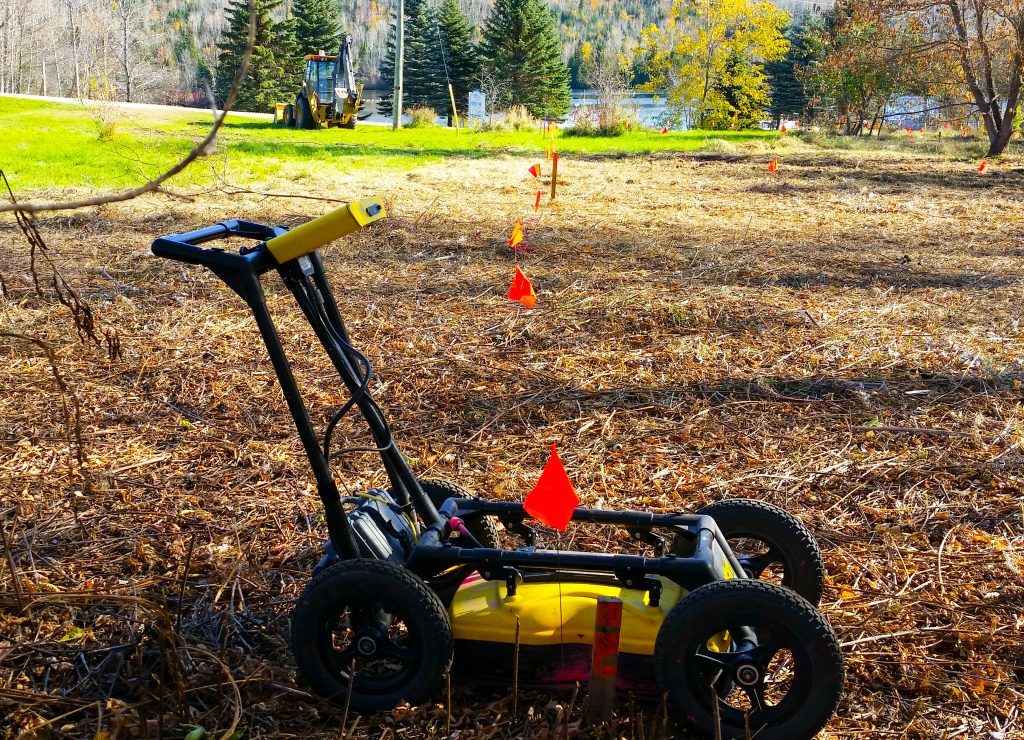 Ground Penetrating Radar (GPR) has a unique ability to detect non-metallic structures.