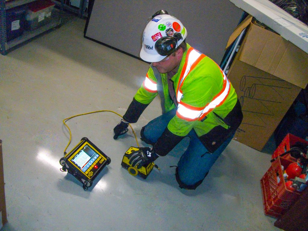 Ground Penetrating Radar (GPR) is the safe way to scan concrete. Unlike X-Ray, it does not emit harmful radiation.