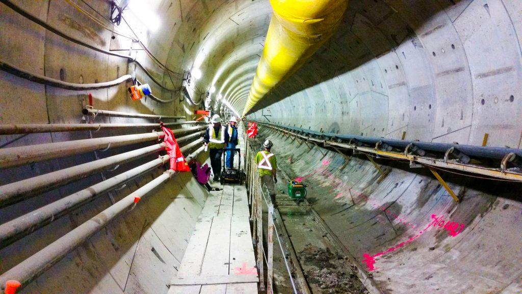 Concrete Scanning for the Eglinton Light Rail Transit (LRT) project.