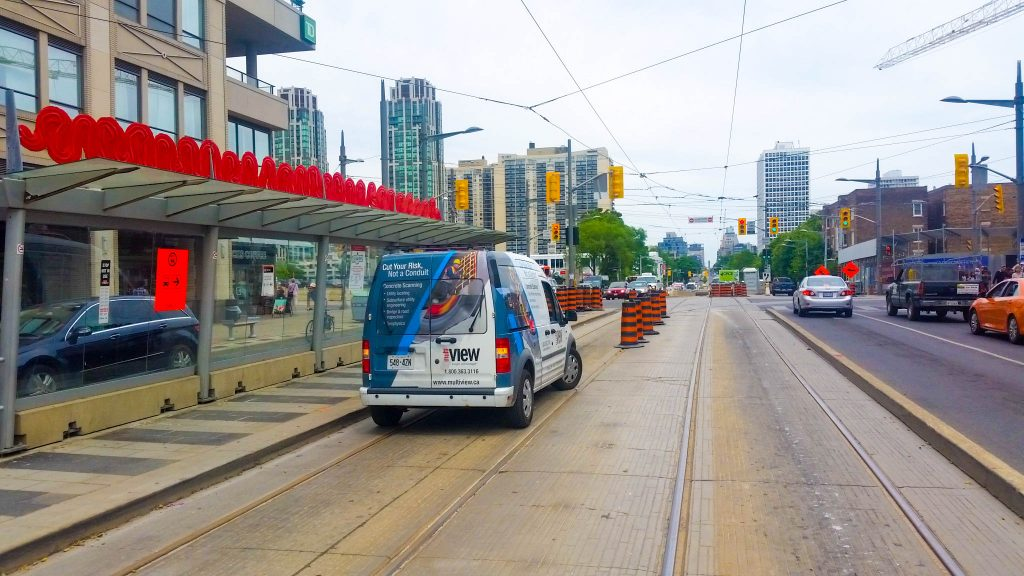 multiVIEW's concrete scanning trucks are spotted in Toronto.