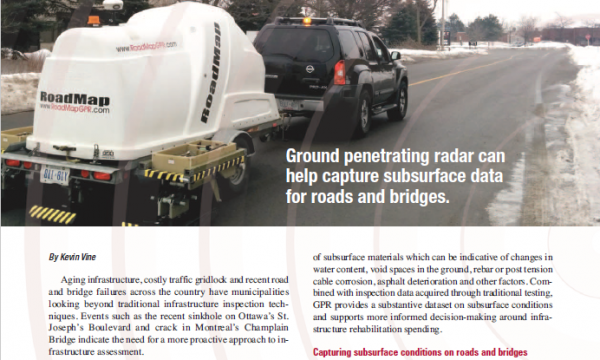 Rounding out an infrastructure inspection program with non-destructive testing, Construction Comment Magazine