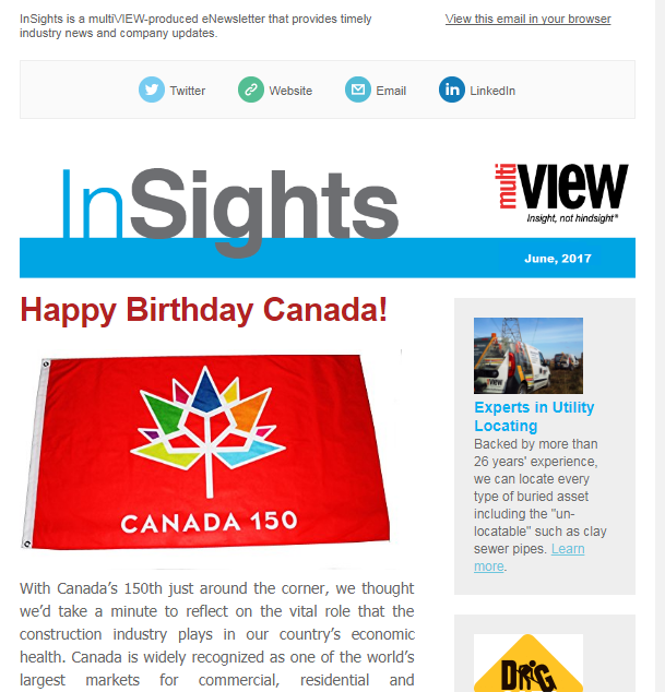 Welcome to the summer issue of multiVIEW InSights