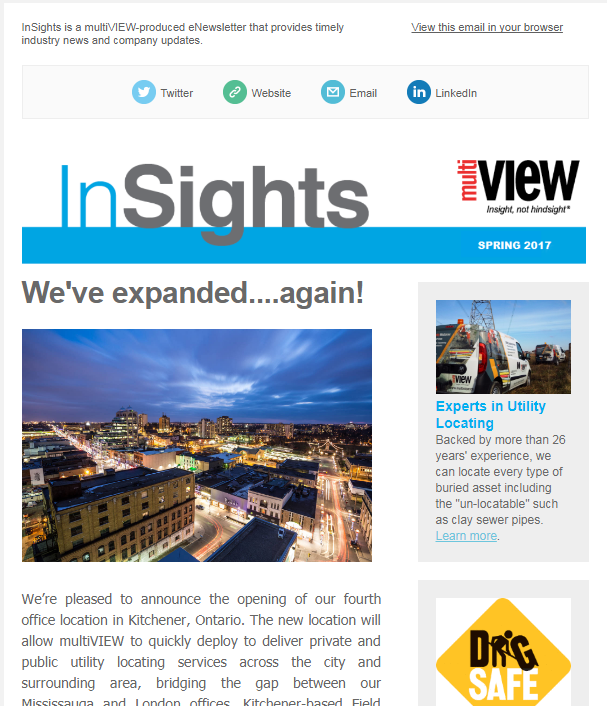 Welcome to the spring issue of multiVIEW InSights