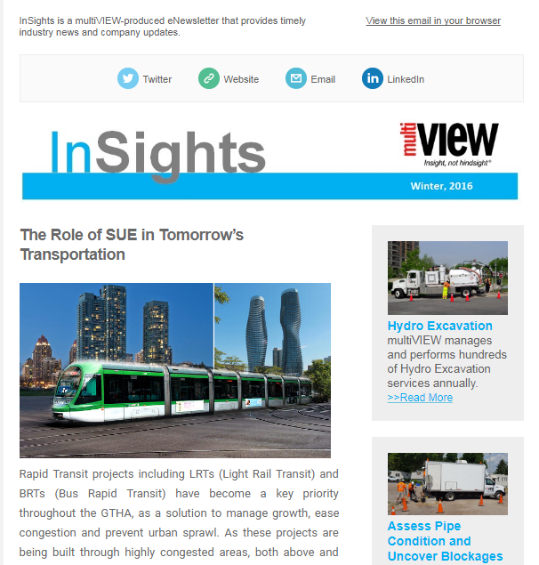 Welcome to the winter issue of multiVIEW InSights