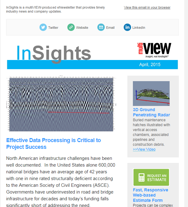 Welcome to the fall/winter issue of multiVIEW InSights