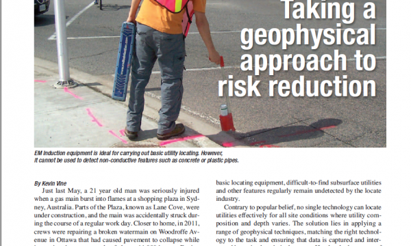 Taking a geophysical approach to risk reduction, Construction Comment Magazine, September 2014