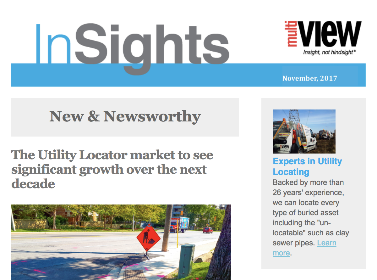Welcome to the fall issue of multiVIEW InSights