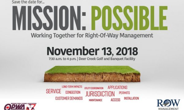 2018 OPWA Right of Way Management Conference