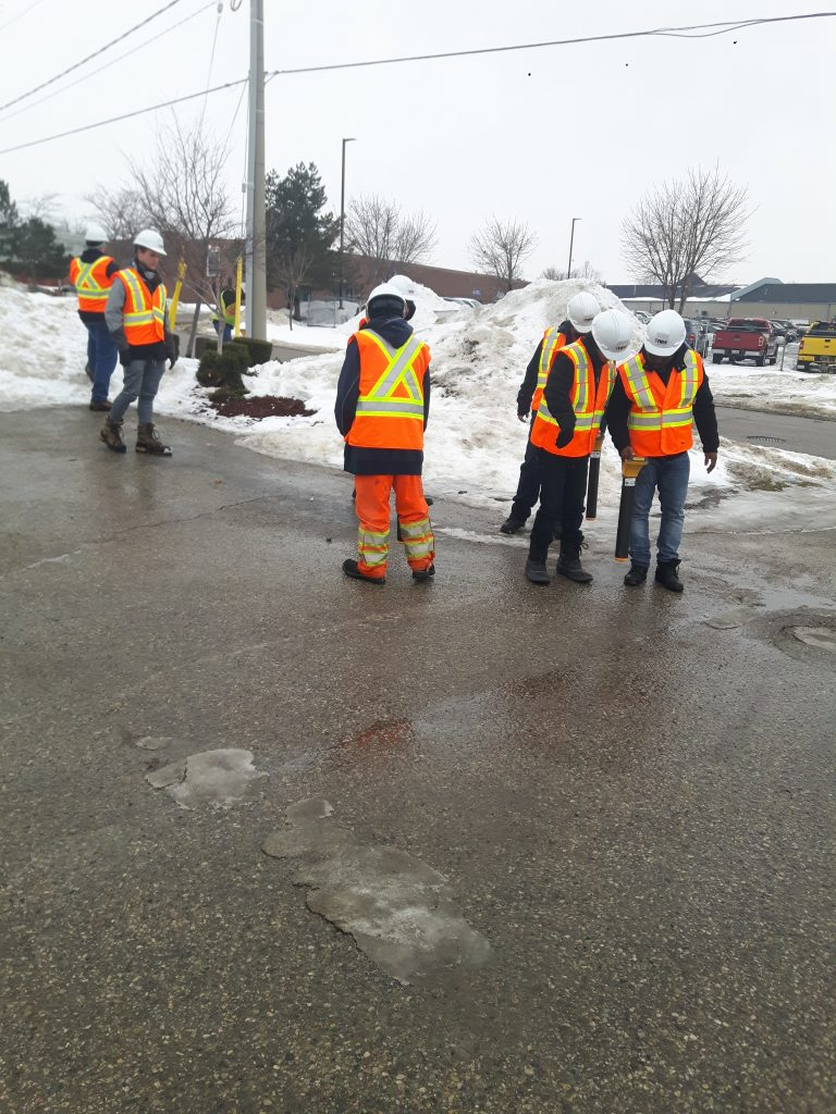 Snow and sleet doesn't stop our Kitchener team from training!