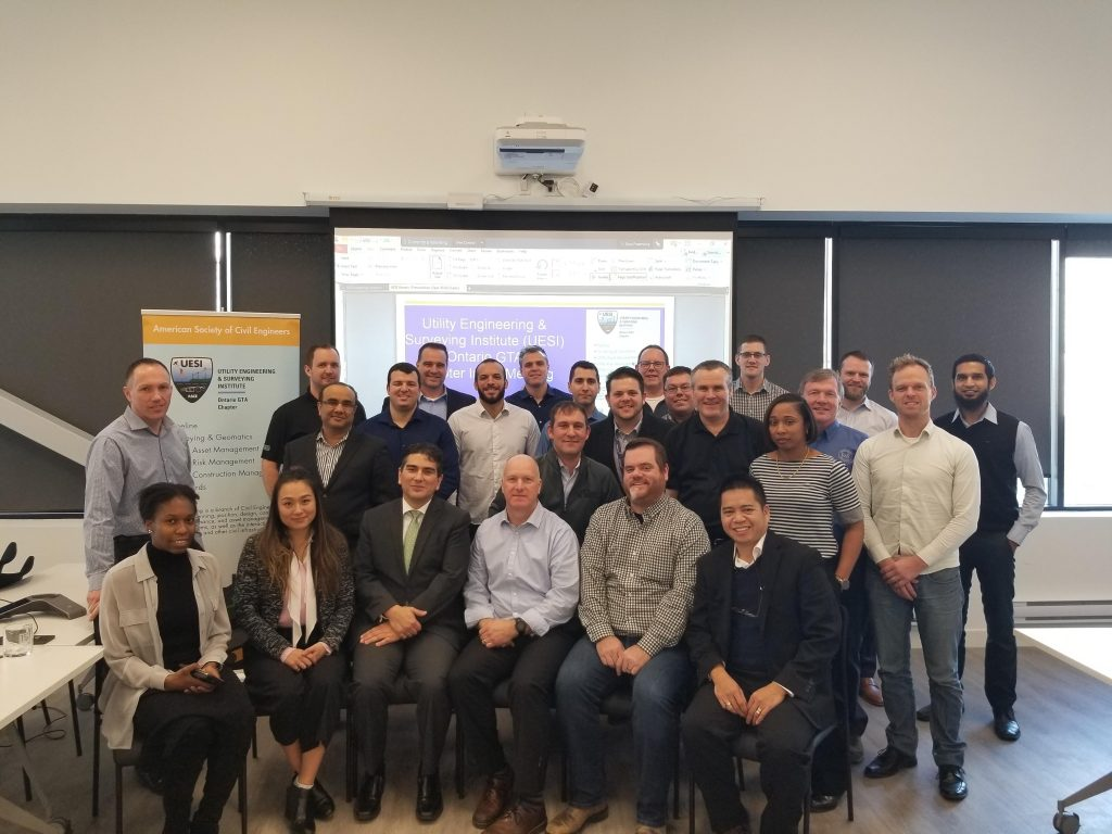 Thank you to T2 Utility Engineering for hosting the first Utility Engineering & Surveying Institute (UESI) GTA Ontario Chapter meeting! Supported by the American Society of Civil Engineers (ASCE), UESI connects local utility engineering, pipeline engineering and surveying stakeholders, helping to promote collaboration across the industry.