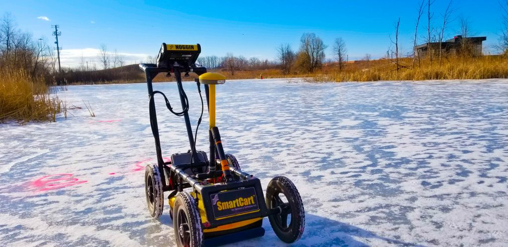 Mapping a large pond in The Region of Peel using Ground Penetrating Radar (GPR)