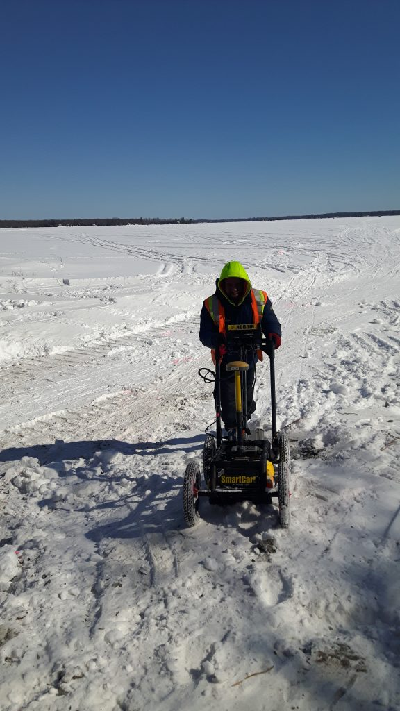 Winter weather doesn't prevent multiVIEW from collecting data using Ground Penetrating Radar (GPR).