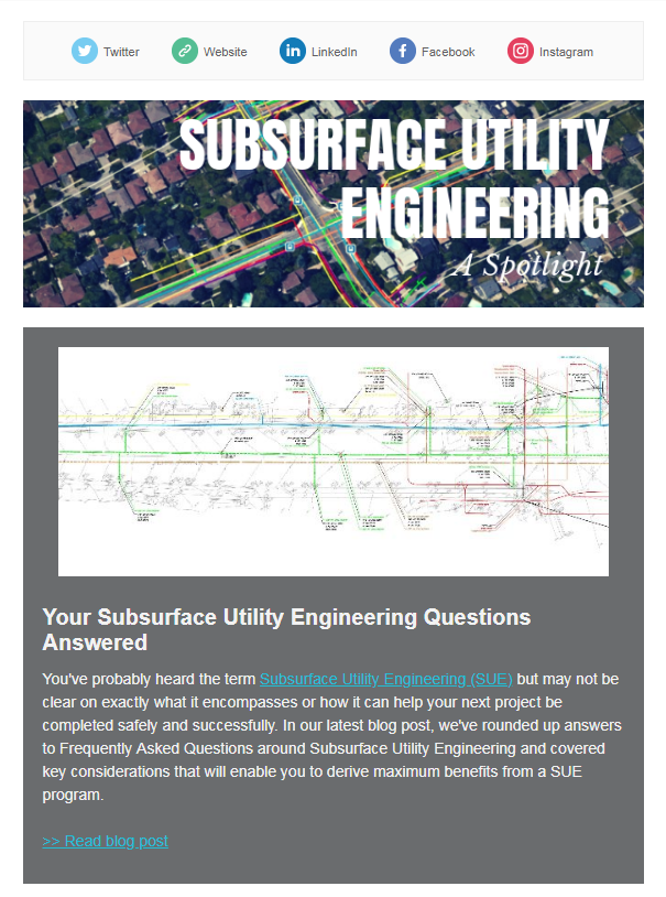 Welcome to the May 2019 issue of multiVIEW Insights - a Spotlight on Subsurface Utility Engineering