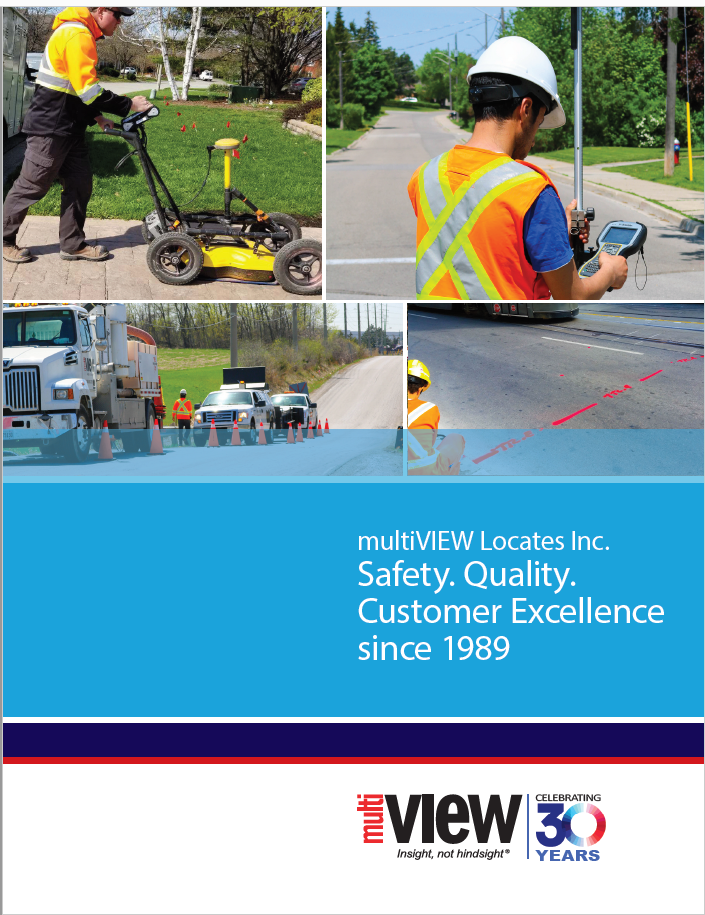 Informative Image showcasing the cover of multiVIEW Corporate Brochure.