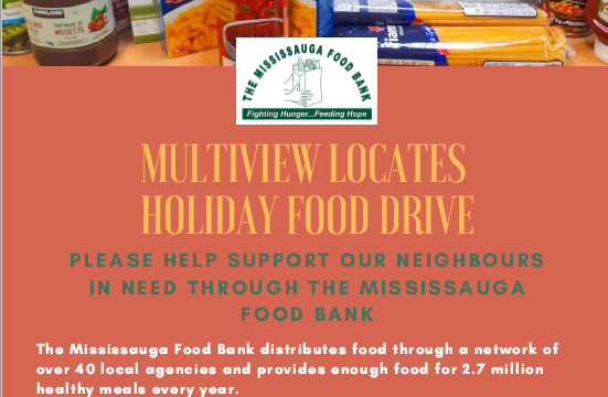 multiVIEW is pleased to support the Mississauga Food Bank this holiday season