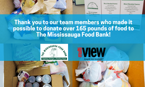 Thank you to our team for making it possible to collect 165 pounds of food for The Mississauga Food Bank!
