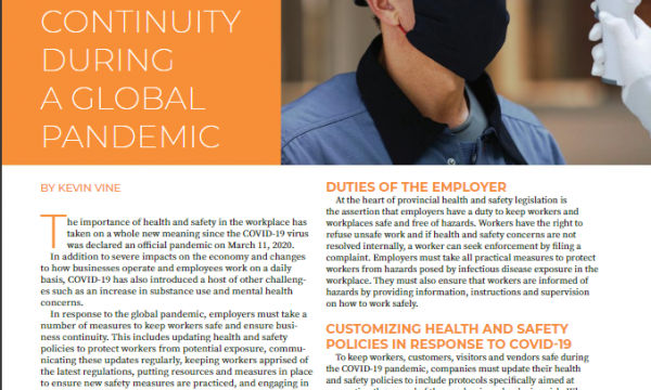 Maintaining Worker Safety & Business Continuity During a Global Pandemic